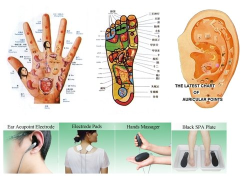 Acupuncture Treatment Pain Medicomat-21F Acupuncture Points Gloves Socks Knee Elbow Pads Belt Neck Wrist