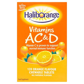 Haliborange Tablets AC & D Orange 120 Chewable Tablets