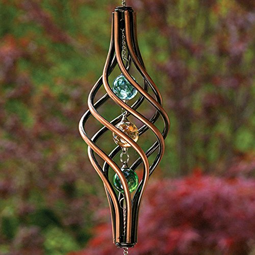 Bits and Pieces - Copper Toned Wind Ornament - Unique Outdoor Lawn and Garden Décor - Weather-Resistant Metal