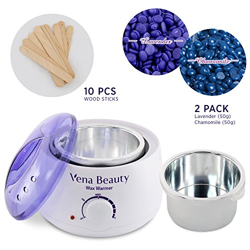 Wax Warmer, Hair Removal Waxing Kit Electric Hot Wax Heater - Self-waxing Spa in Home
