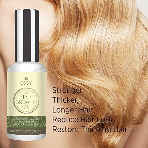 Natural Growth Hair Oil with Caffeine - Hair Growth Oil for Stronger, Thicker, Longer Hair