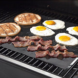 Grill Mat - Set of 4 Non Stick BBQ Grilling Mats - Heavy Duty, Reusable, and Easy to Clean - Extended Warranty (Pack 4)