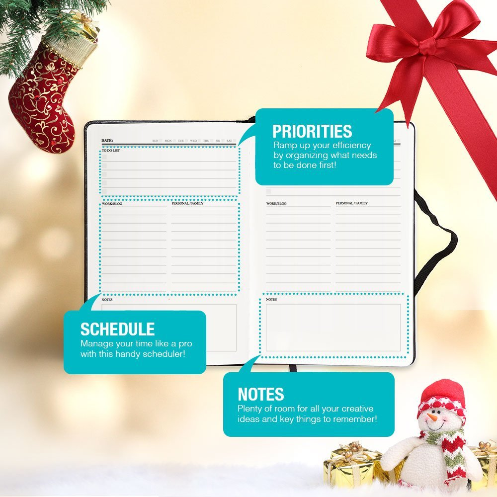 Grand Plans Full Year Time Planner – Daily AND Monthly Entry Slots – Hardcover (A5 Hardcover)