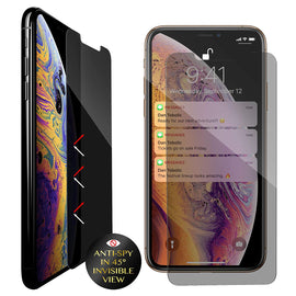 Blitzby Privacy Screen Protector for Apple iPhone Xs Max, 6.5 inches, Anti-Spy Tempered Glass Film, 2-Pack by Blitzby