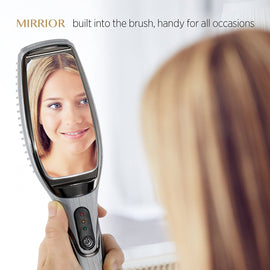 "AsaVea A7 Innovative Hair Straightening Brush with Mirror, ""Adore"",  New Arrival"