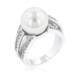 12 Mm Shell Pearl Bridal Ring