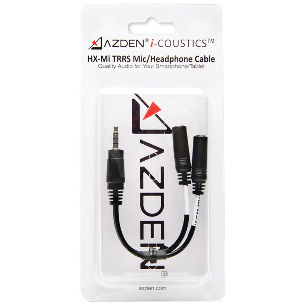 Azden I-coustics Hx-mi Trrs Microphone And Headphone Interface Cable For Smartphones & Tablets
