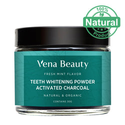Natural Teeth Whitening Powder - Made with Organic Bamboo Activated Charcoal and Food Grade Formula - for Sensitive Teeth and Healthy Whitener