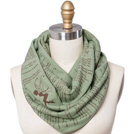 Peter Pan Book Scarf - Infinity Scarf, Literary Scarf, J.M. Barrie, Book Lover, Books, Reading, Teacher Gift