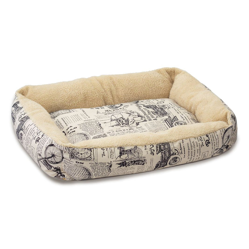 Paws & Pals Plush Dog Cat Cushion Bed, Portable & Durable, Available in 3 Sizes