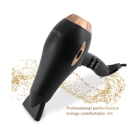 Asavea hair dryer Pro AC motor ionic, ceramic fast 1875W long life blow dryer