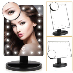LUVODI 10X7 Inch Touch Screen LED Lighted Makeup Mirror Tabletop