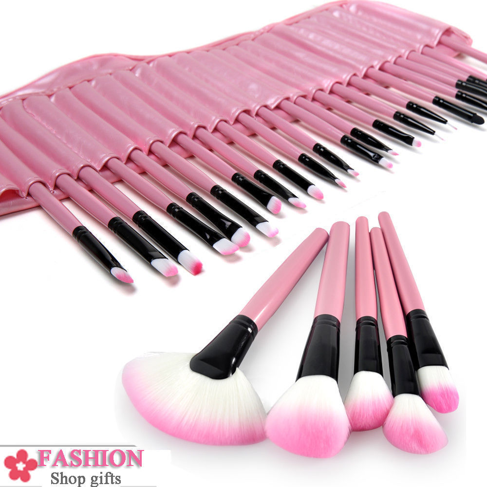 Makeup Brush Set with Case - 32 Essential Professional Pieces