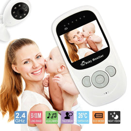 Wireless Colored LCD Baby Monitor Camera with IR Night Vision and Built-in Lullaby and Mic