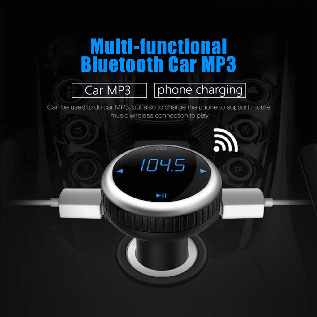 Multi Purpose Car USB Charger Kit Bluetooth FM Transmitter Mp3 TF Player