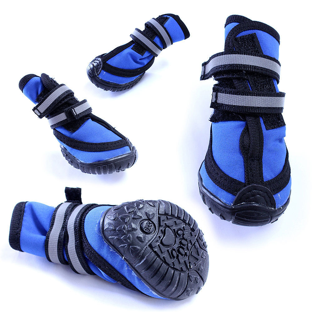 HDP Durable Dog Boots, Thermal Neoprene Upper With Reflective Straps