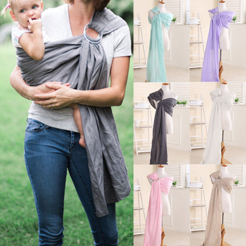 Comfortable and Safe Adjustable Newborn Baby Sling Ring Baby Carrier Wrap Pouch