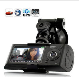 1080P FHD Dual Lens GPS Camera and DVR Dash Cam Video Recorder with G-Sensor and Night Vision