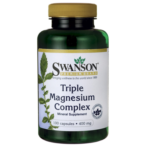 SWANSON Triple Magnesium Complex 400 mg Mineral Supplement 100 capsules