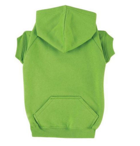 Zack and Joey Dog Basic Hoodie Coat, All Sizes & 9 Bright Colors, Soft Poly/Cotton Made