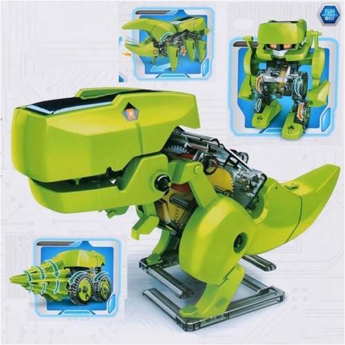 4-in-1 DIY Design Easy Set-up Educational Solar-Powered Robot for Kids