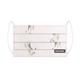 Unicorn White/Pink Cotton Facemask (10 units)
