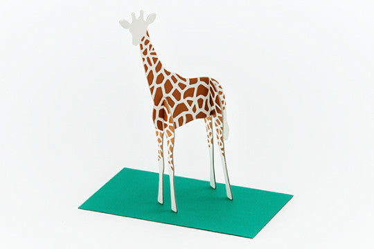 3D POP UP CARD - GIRAFFE (10 units)