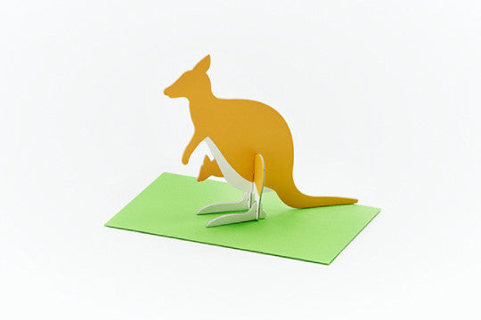 3D POP UP CARD - KANGAROO (10 units)