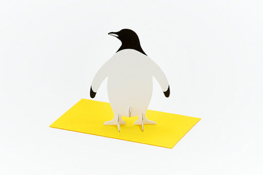 3D POP UP CARD - PENGUIN (10 units)