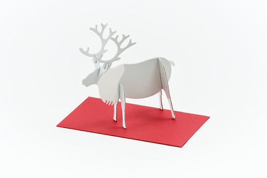 3D POP UP CARD - REINDEER (10 units)