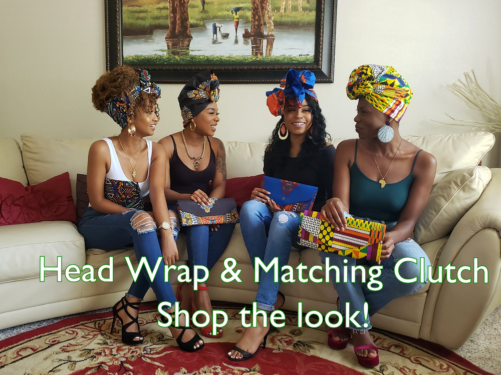 Head wrap and matching clutch