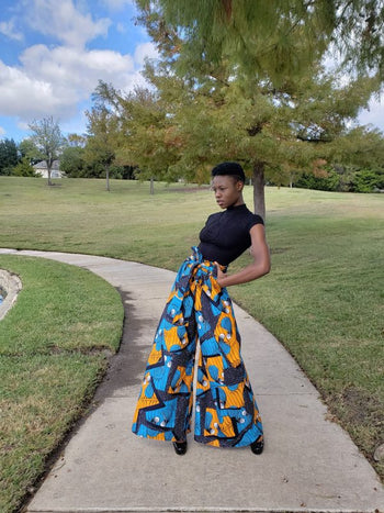 Rissieo African Print Palazzo Pants - Oludan