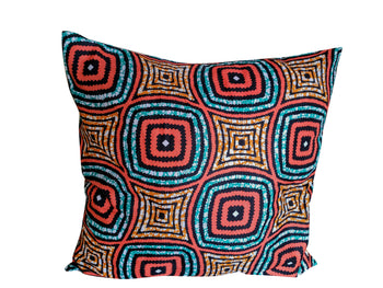 Spiro African Print Throw Pillow - Oludan