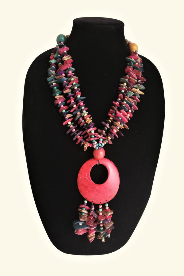 African Coconut Shell Necklace
