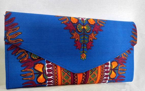 African Print Michelle Clutch Bag - Oludan