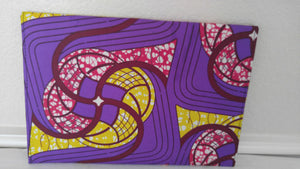 Purple African Print Envelope Clutch - Oludan