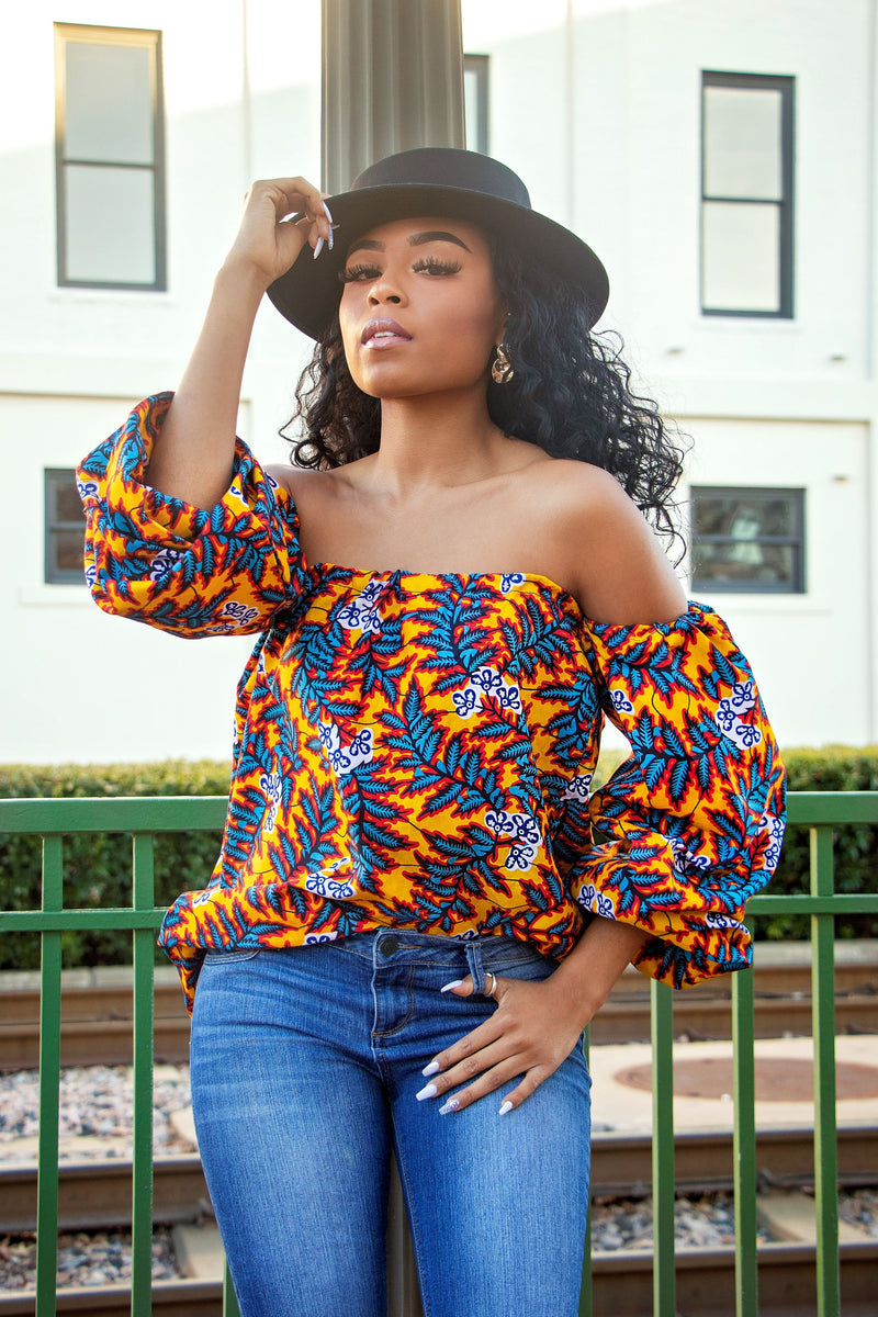 African Print Onime Top
