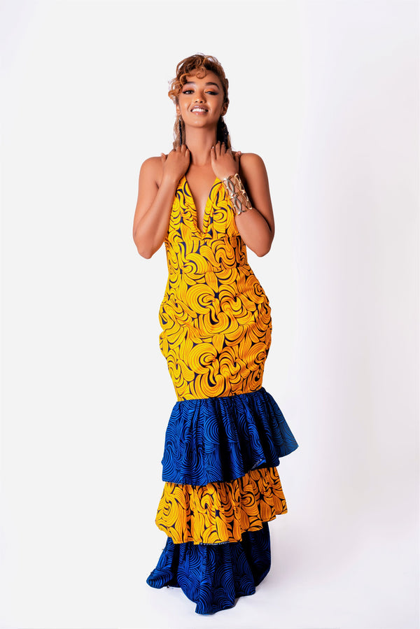 African Print Simi Infinity Maxi Dress