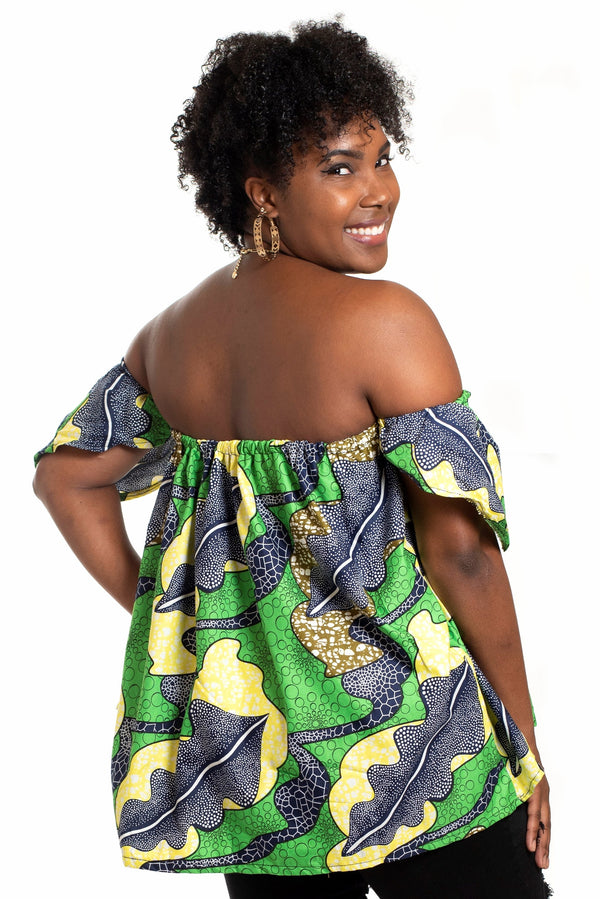 African Print Uche Strapless Top - Oludan