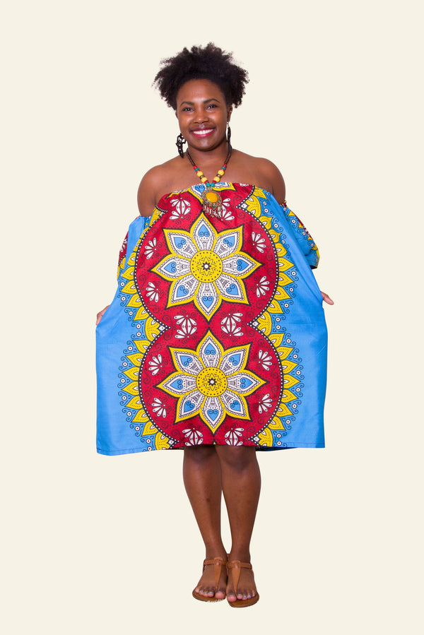 African Print Osayomo Midi Dress