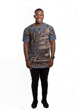 African Print Osahon Shirt For Men - Oludan
