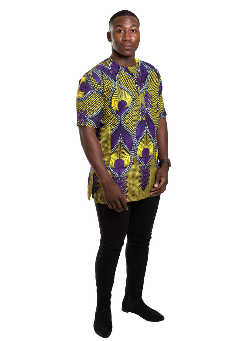 African Print Agu Shirt For Men - Oludan