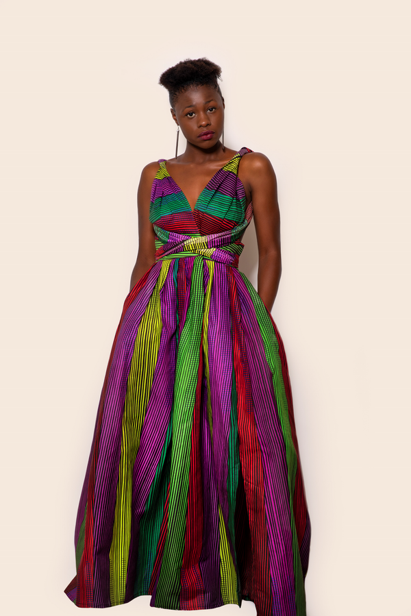 African Print Makeba Infinity Dress