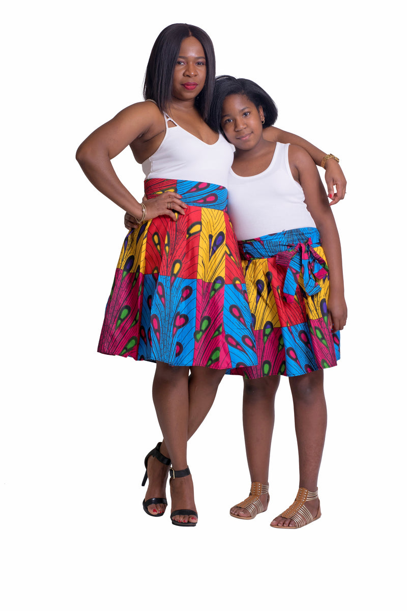 African Print Mimi Mommy and Me Skirts - Oludan
