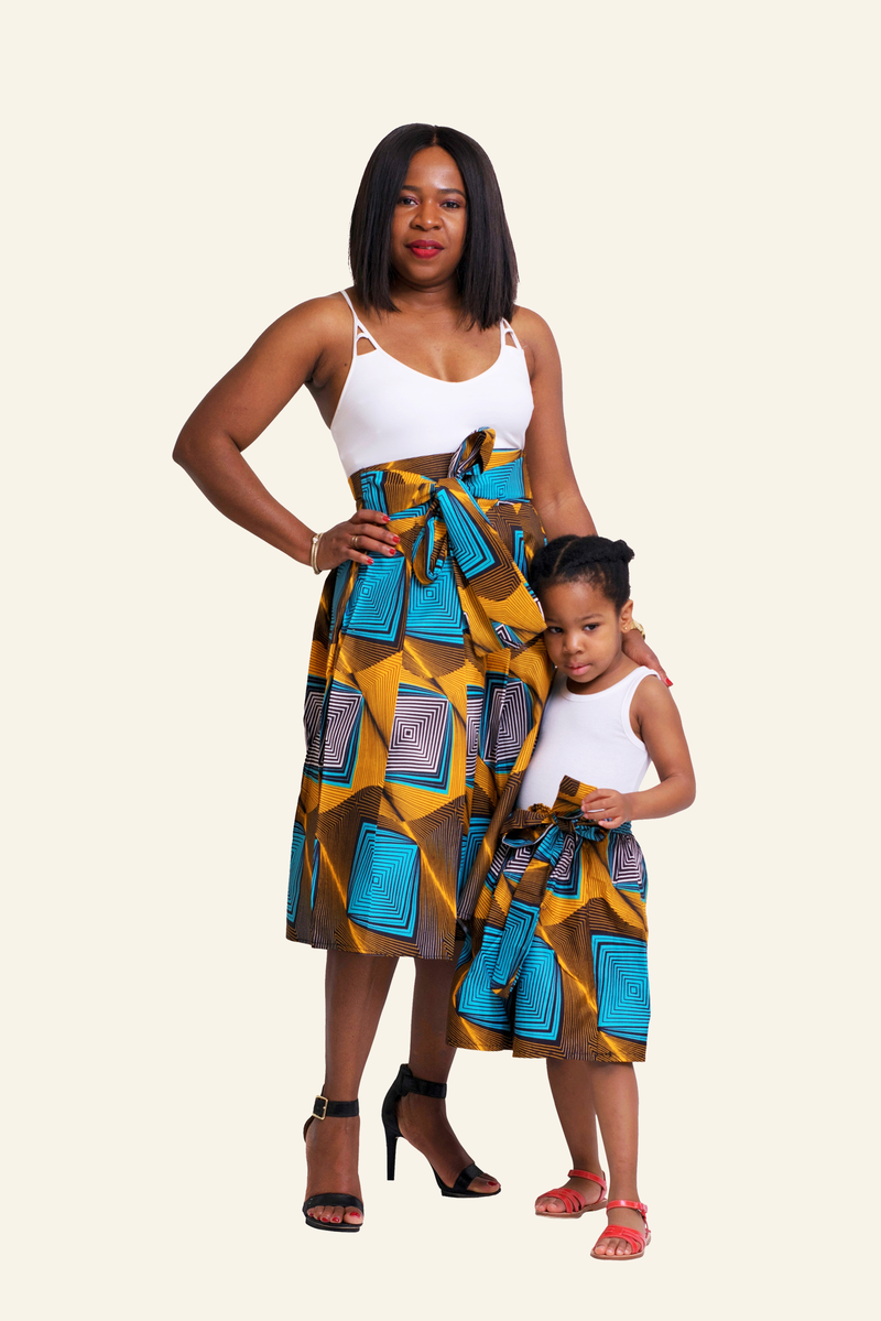 African Print Chidera Mommy and Me Skirts - Oludan