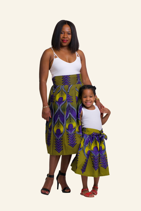 African Print Sere Mommy and Me Skirts - Oludan