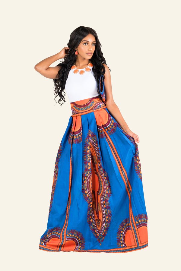 African Dashiki Michelle Maxi Skirt