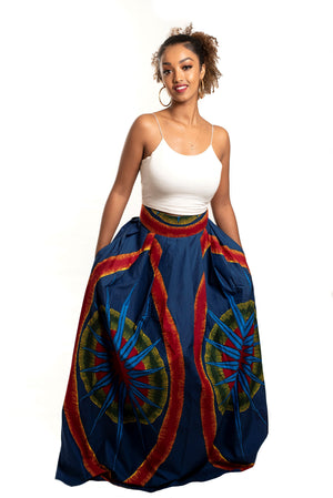 African Print Gbono Maxi Skirt