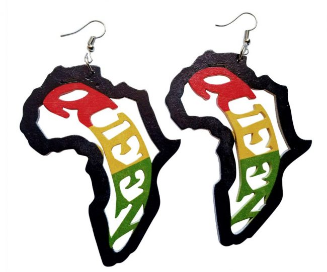 African Rasta Queen Earrings (Multicolored) - Oludan