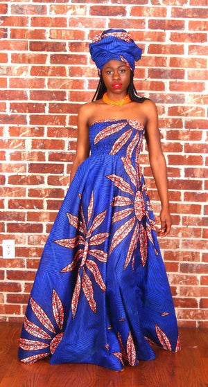 Risper in an Oludan African print dress